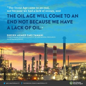 The oil age will come to an end